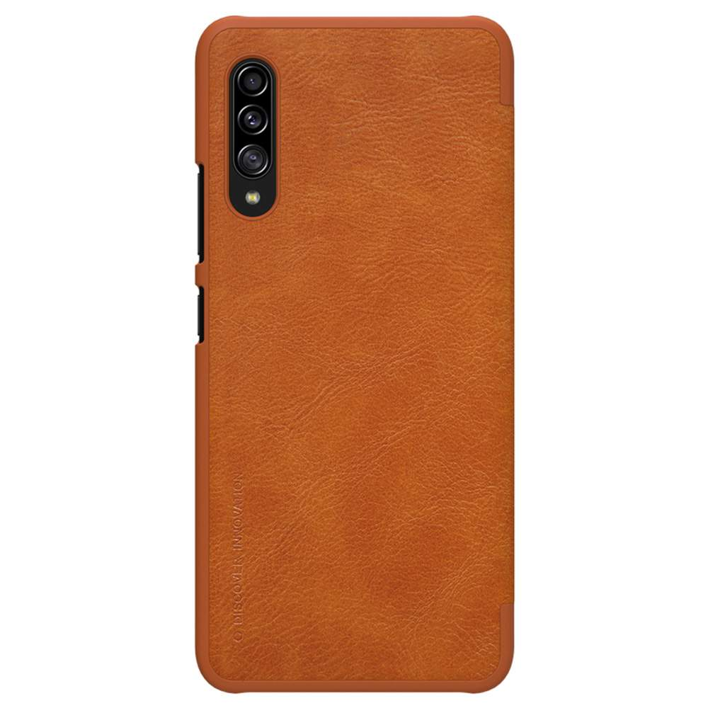 NILLKIN Protective Leather Phone Case For Samsung Galaxy A90 5G Smartphone - Brown