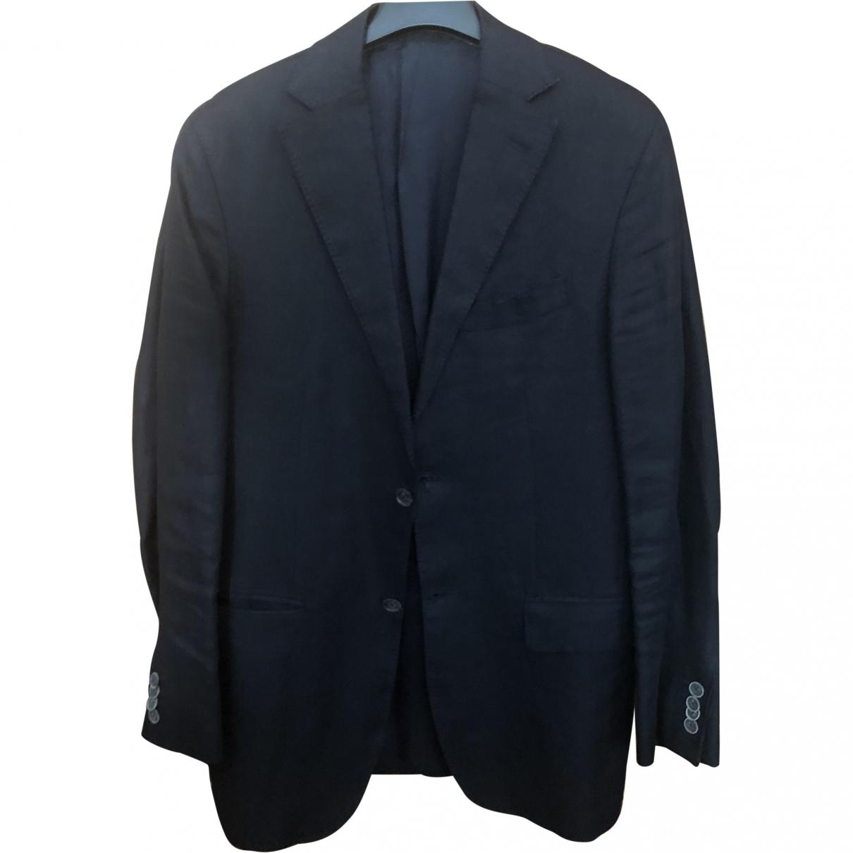 Massimo Dutti \N Blue Linen jacket  for Men 46 FR