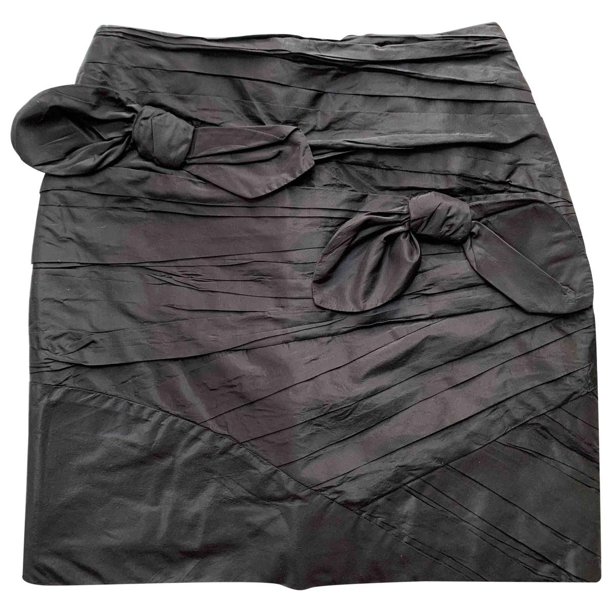 Valentino Garavani \N Black Silk skirt for Women 4 UK