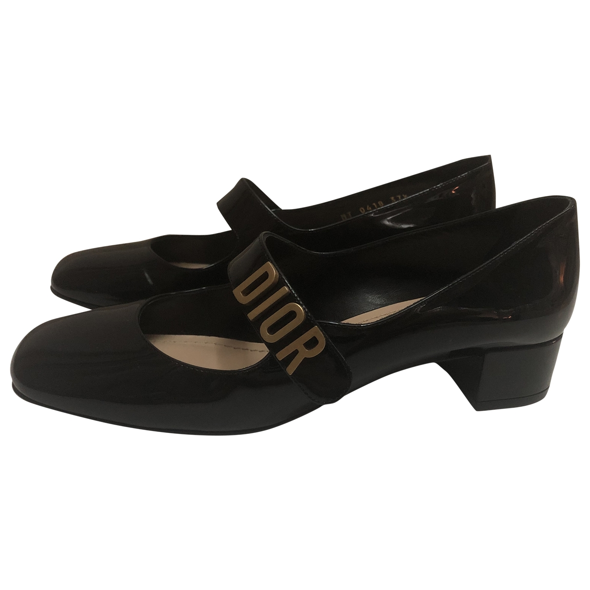 Dior Baby-D Black Patent leather Ballet flats for Women 37.5 EU
