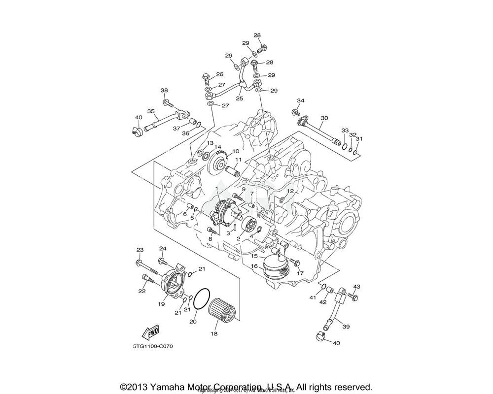 Yamaha OEM 90109-065G2-00 BOLT