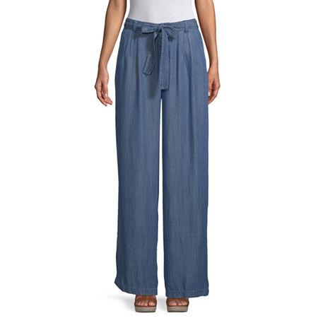 a.n.a Womens Soft Wide Leg Pant, 4 , Blue