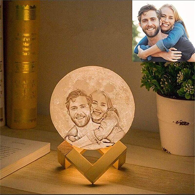 Personalized Photo Night Light Customized 3D Printing Moon Night Lamp