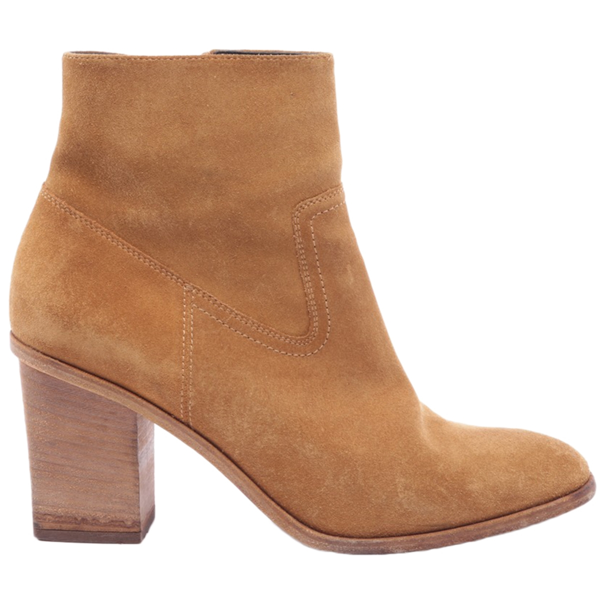 Saint Laurent \N Yellow Cloth Ankle boots for Women 39.5 EU