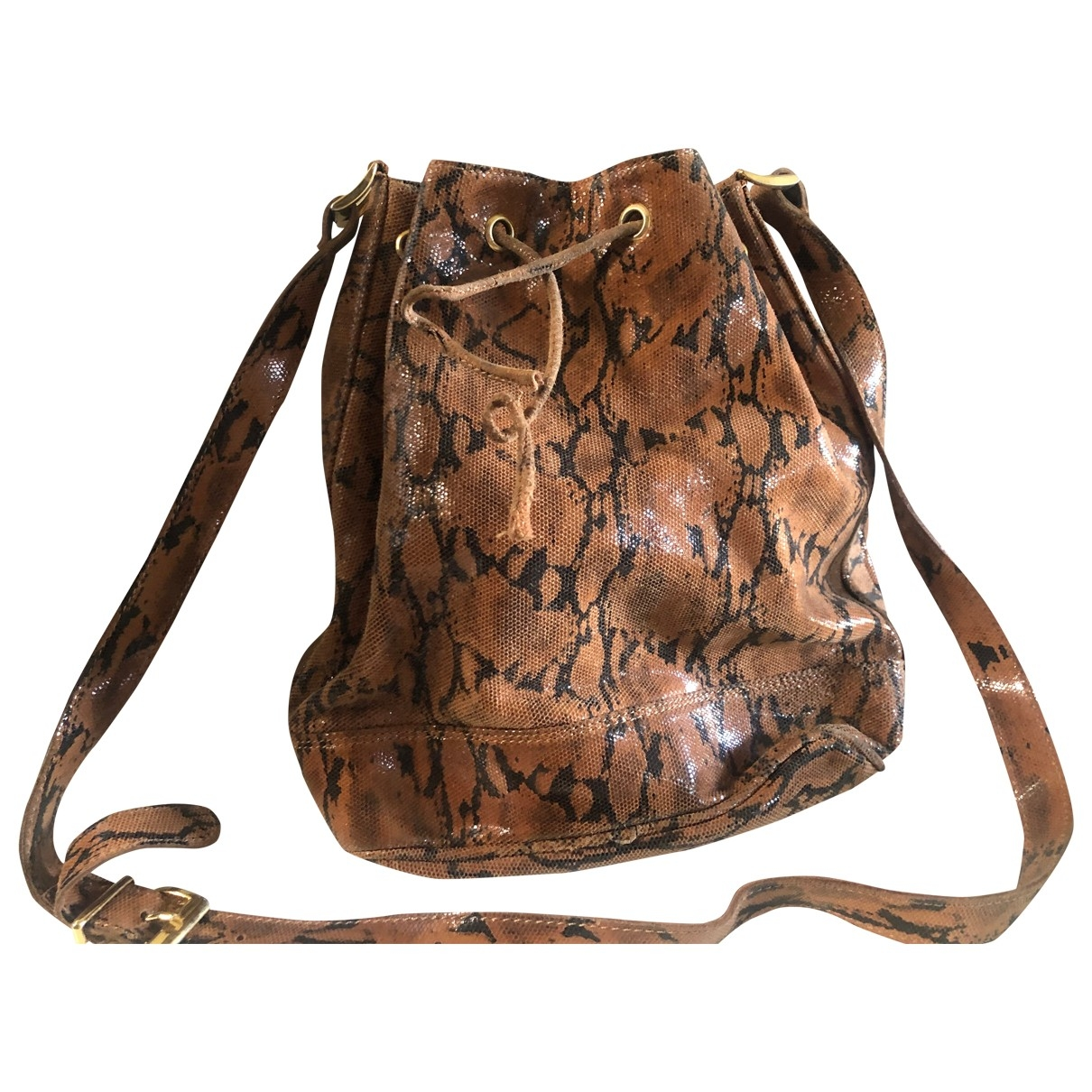 Non Signé / Unsigned \N Brown Shark handbag for Women \N