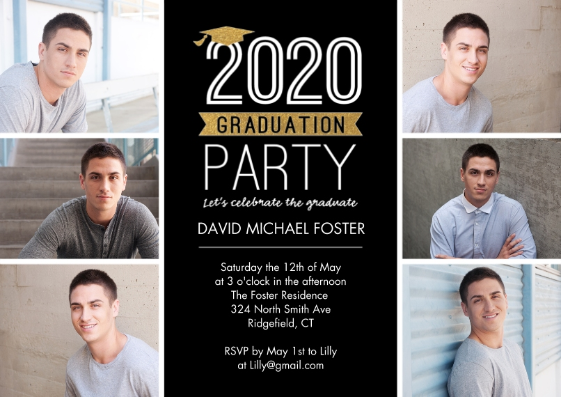 2020 Graduation Invitations 5x7 Cards, Premium Cardstock 120lb with Rounded Corners, Card & Stationery -2020 Graduation Invite Cap by Tumbalina