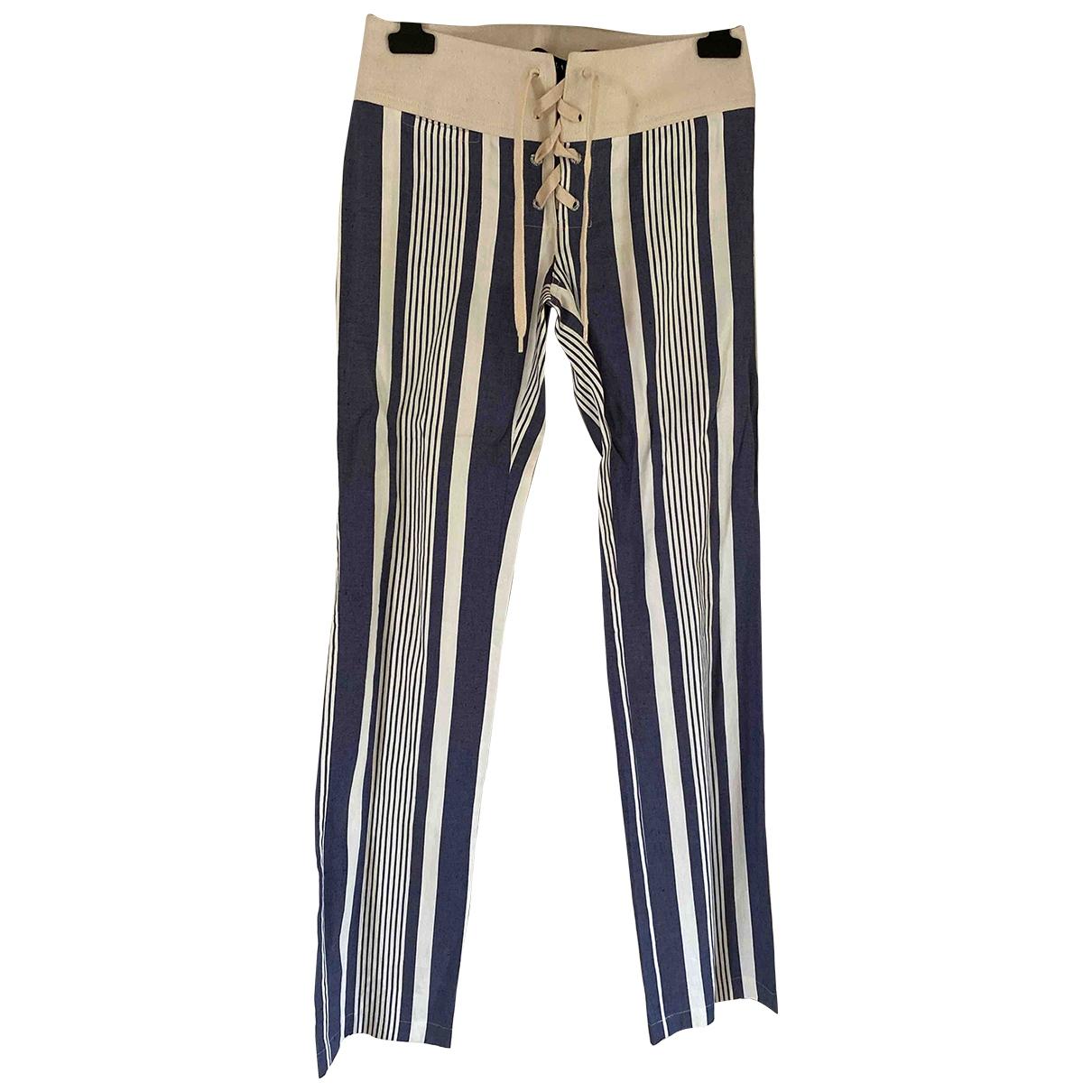 Ralph Lauren \N Blue Cotton Trousers for Women 2 US