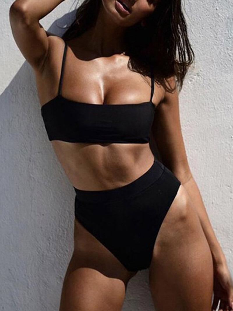 Ericdress Tankini Set Plain Sexy Swimsuit