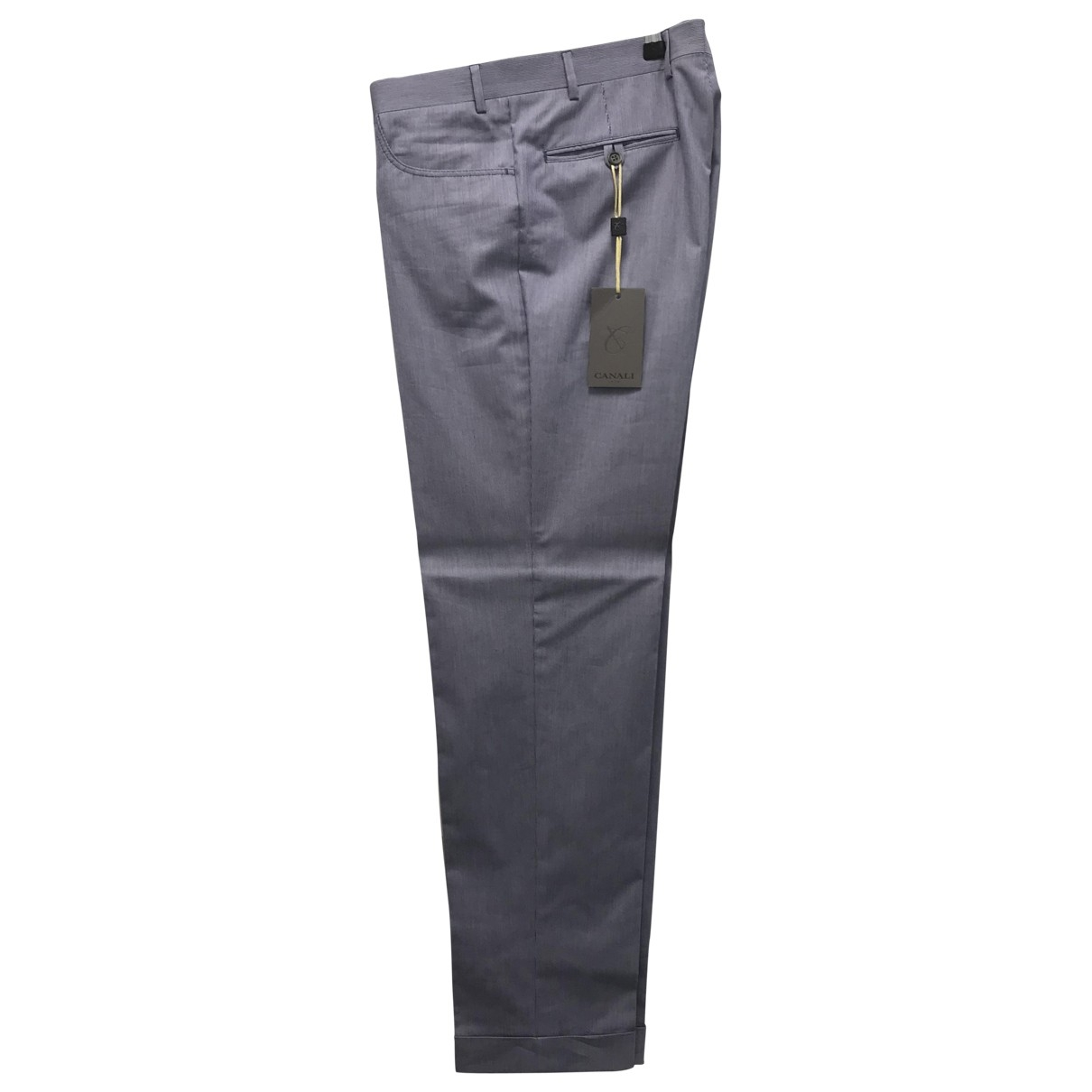 Canali \N Blue Cotton Trousers for Men 50 IT