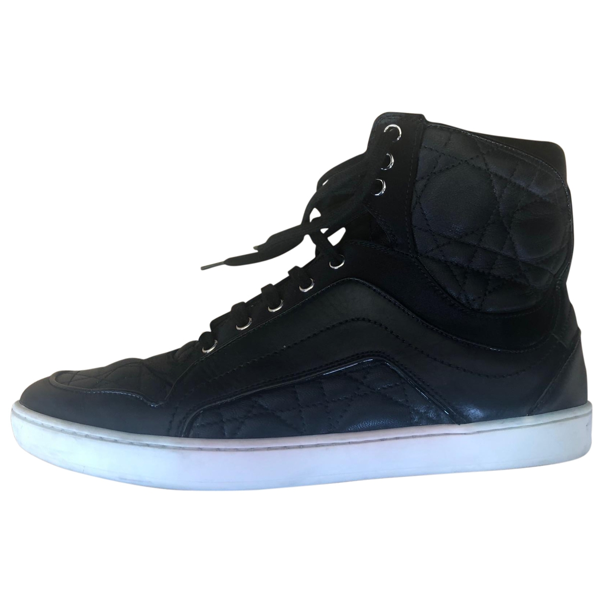 Dior \N Black Leather Trainers for Women 36 EU