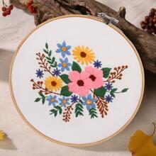 Floral Pattern DIY Cross Stitch