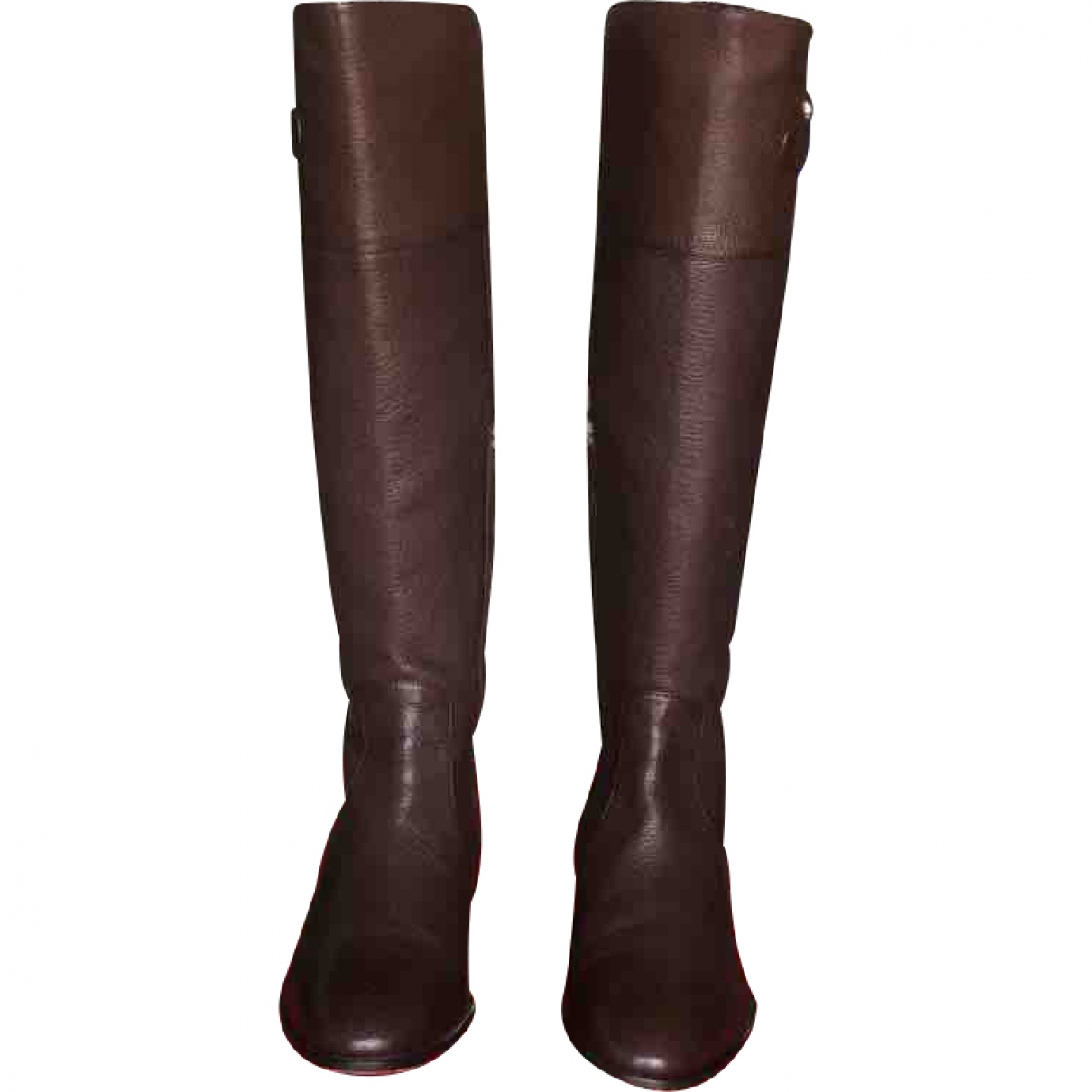 Carolina Herrera \N Brown Leather Boots for Women 36 EU
