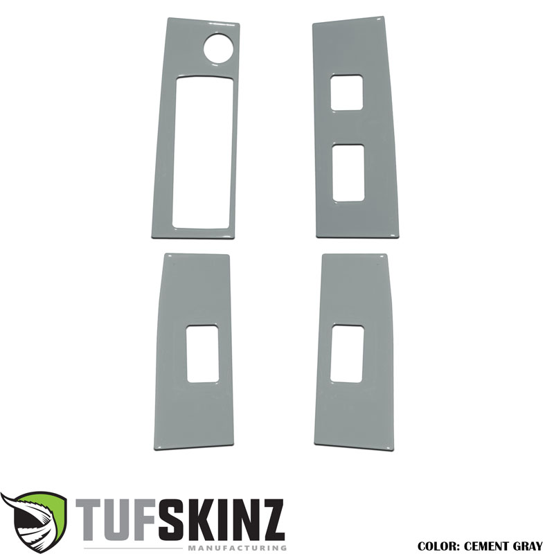Tufskinz TAC028-GGY-G Door Switch Panel Accents Fits 16-up Toyota Tacoma 4 Piece Kit Cement Gray
