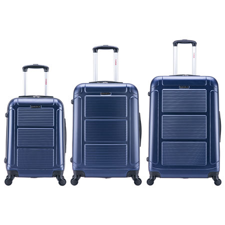 InUSA Pilot Lightweight Hardside Spinner 3-pc. Luggage Set, One Size , Blue