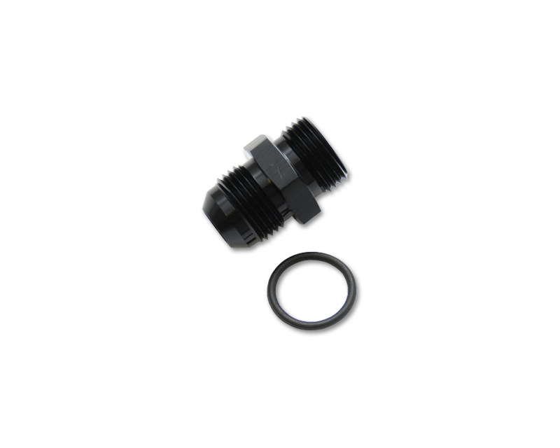 Vibrant Performance 16823 Anodized Black -4AN Flare to -8AN Straight Cut Adapter Fitting with O-Ring