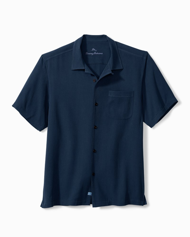 Big & Tall Hawaiian Herringbone Camp Shirt