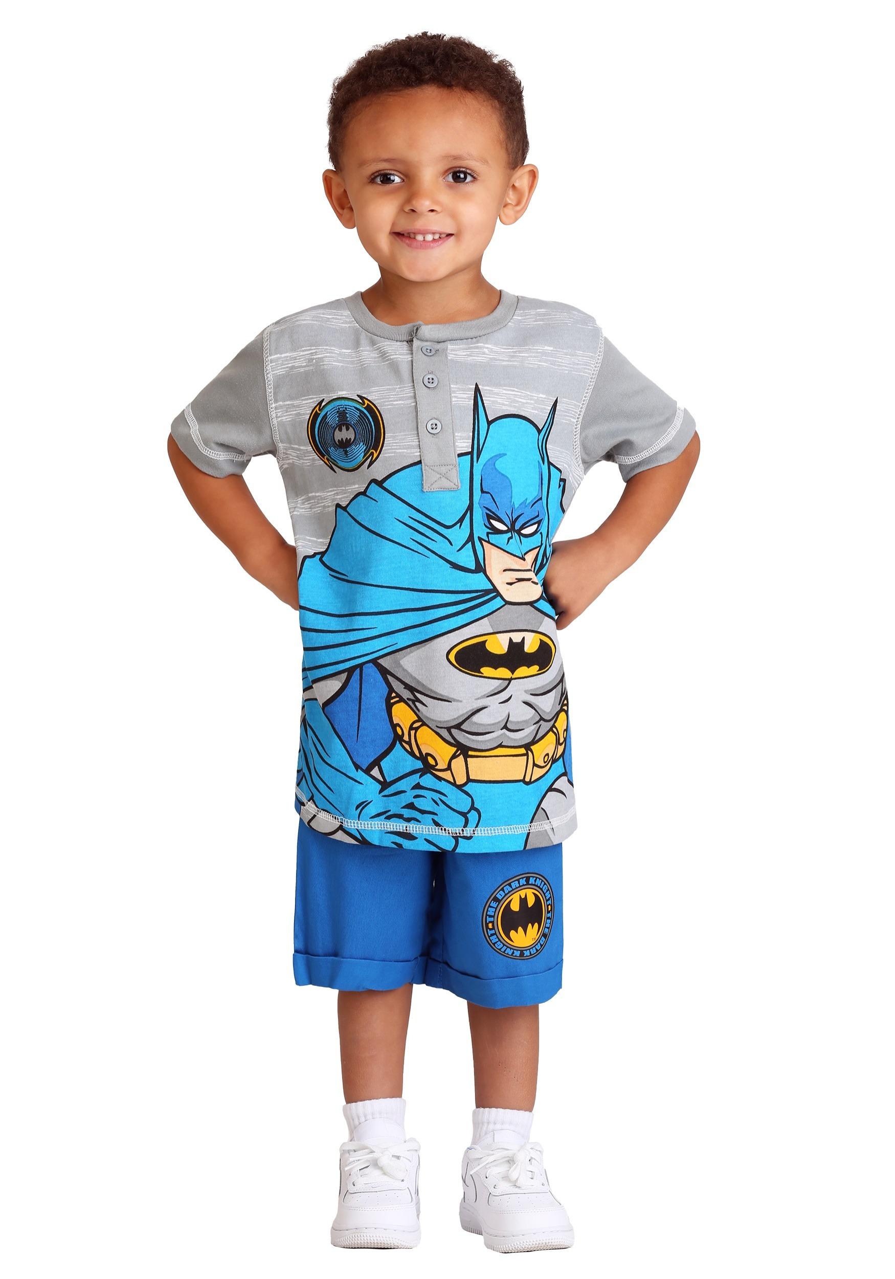 Batman Polo and Twill Toddler Boys Short Set