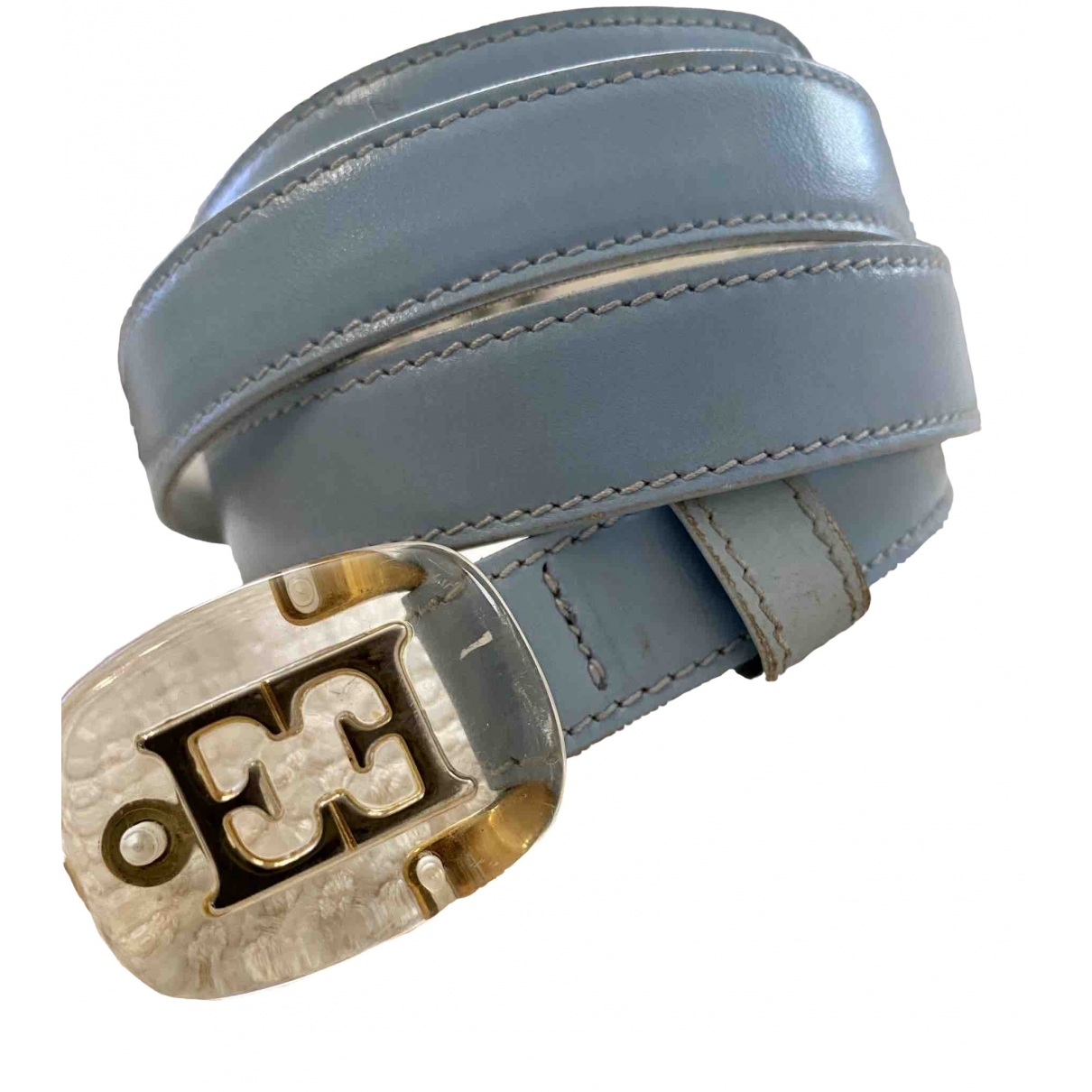 Escada \N Blue Leather belt for Women 90 cm
