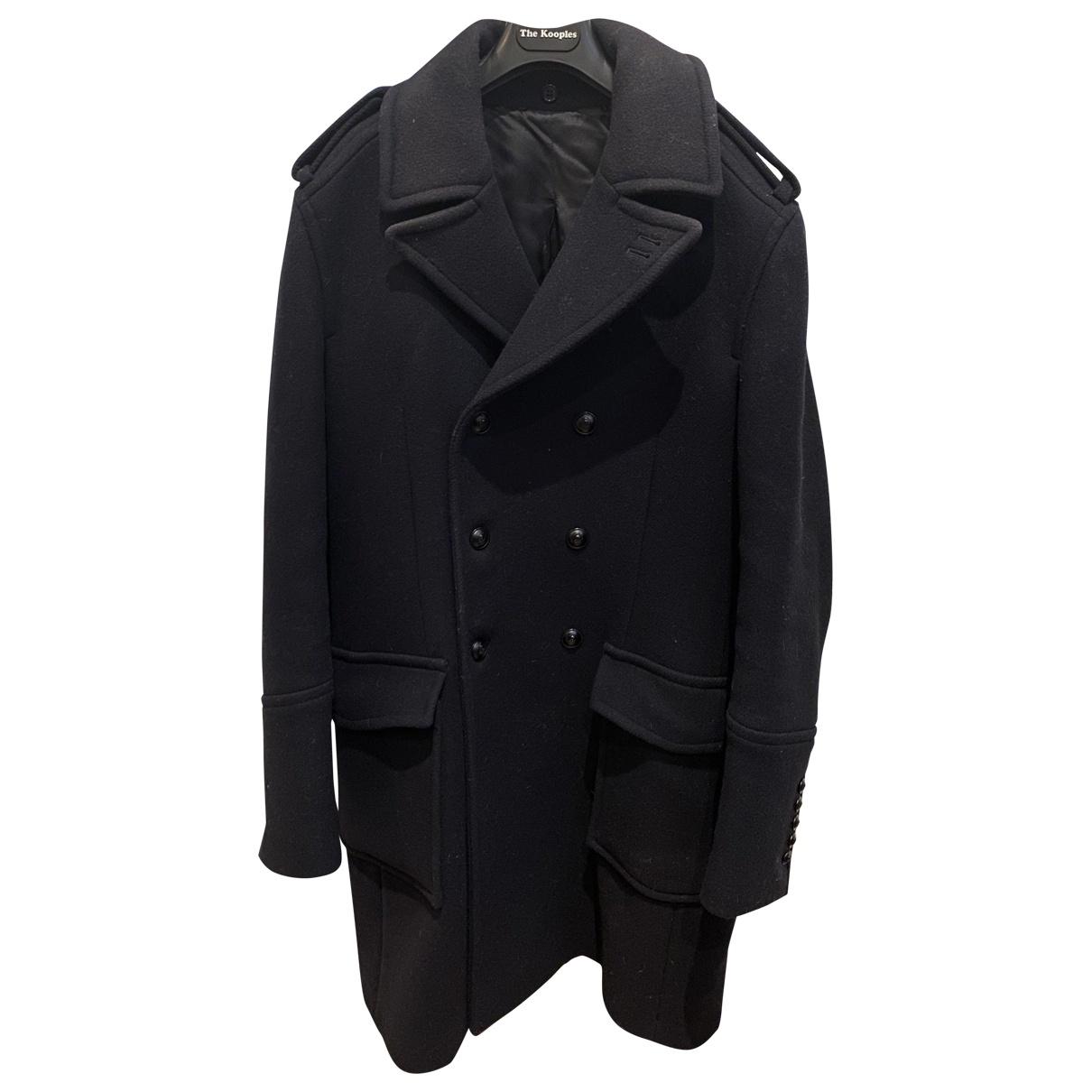 The Kooples \N Navy Wool coat  for Men 50 FR