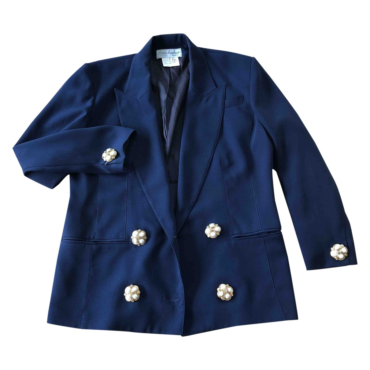 Non Signé / Unsigned \N Navy jacket for Women 3 0-5