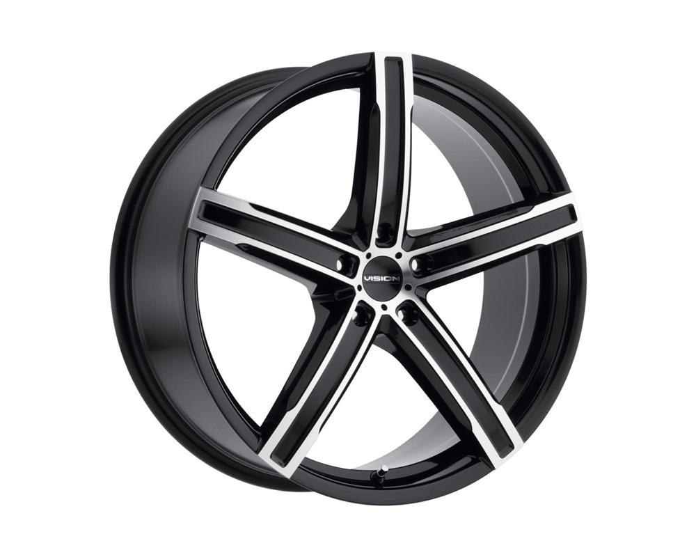 Vision Boost Gloss Black Machined Face Wheel 17x8 5x114.3 38