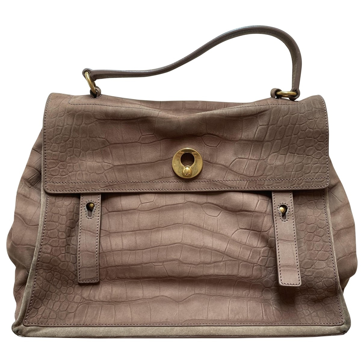 Yves Saint Laurent Muse Two Brown Leather handbag for Women \N