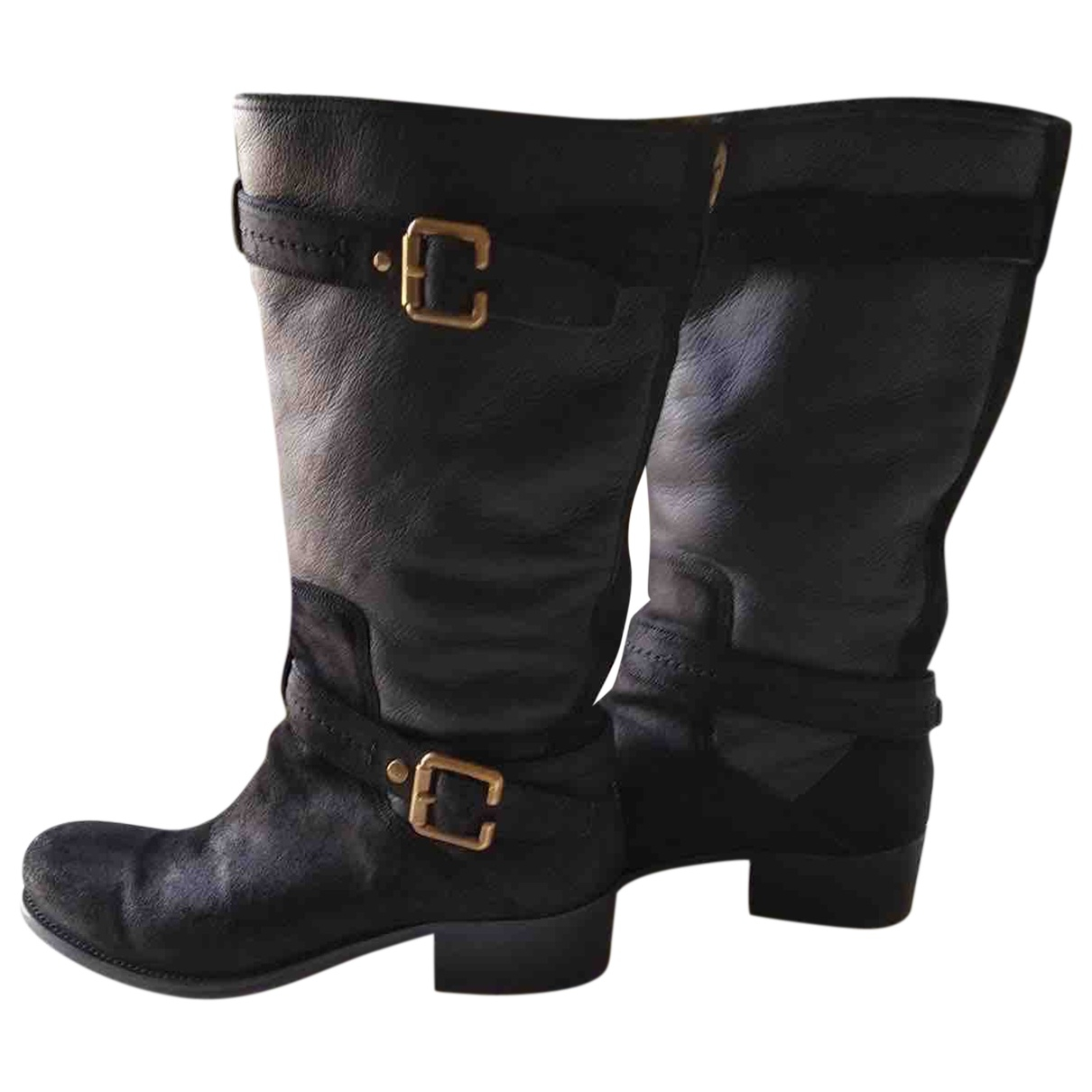 Dior \N Black Leather Boots for Women 41.5 EU