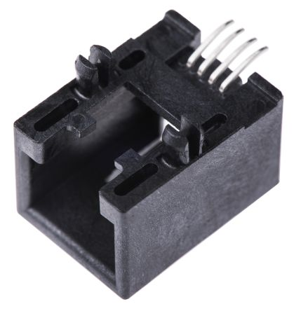 Molex 6/4 way PCB mount SMT r/a RJ socket,1.5A (5)