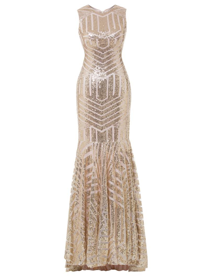 Ericdress Scoop Neck Sequins Mermaid Evening Dress