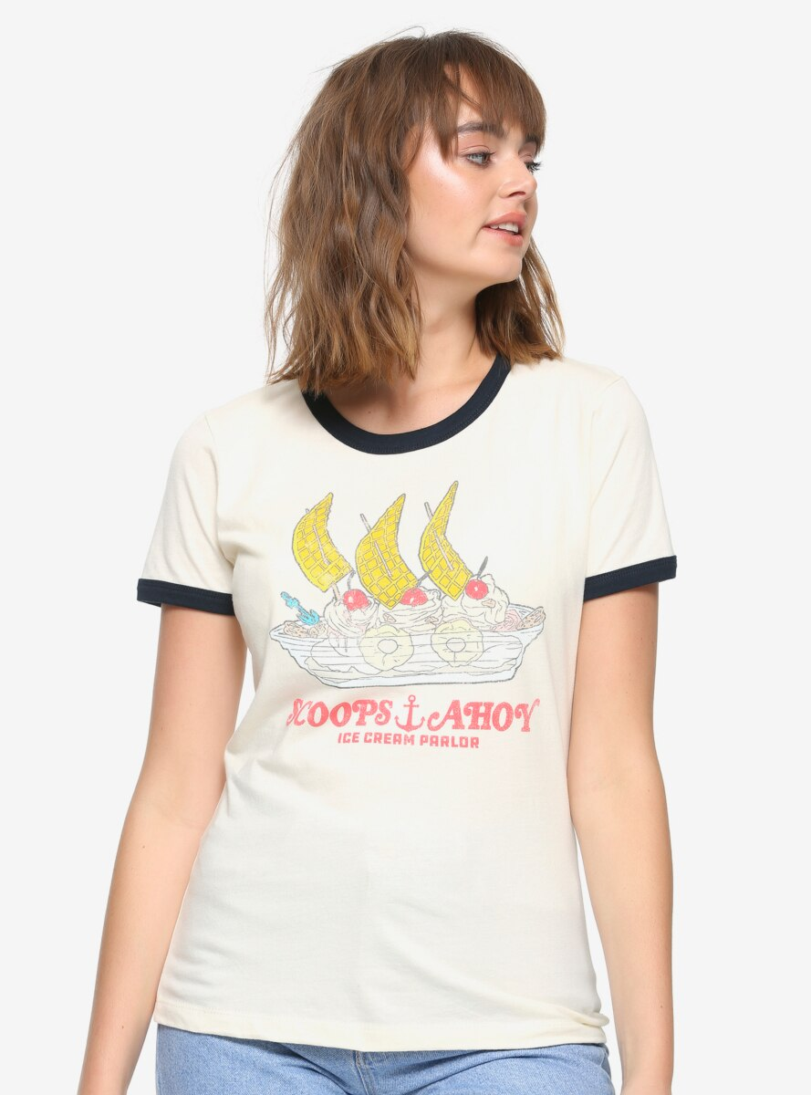 Stranger Things Scoops Ahoy Women's Ringer T-Shirt - BoxLunch Exclusive