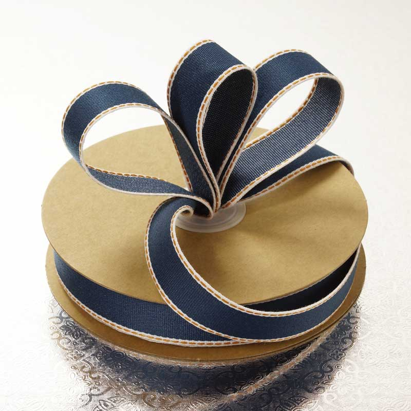 Polyester 7/8 X 25 Yards Dream Of Denim Ribbon by Ribbons.com