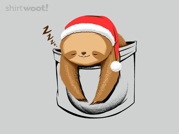 Holiday Pocket Sloth T Shirt
