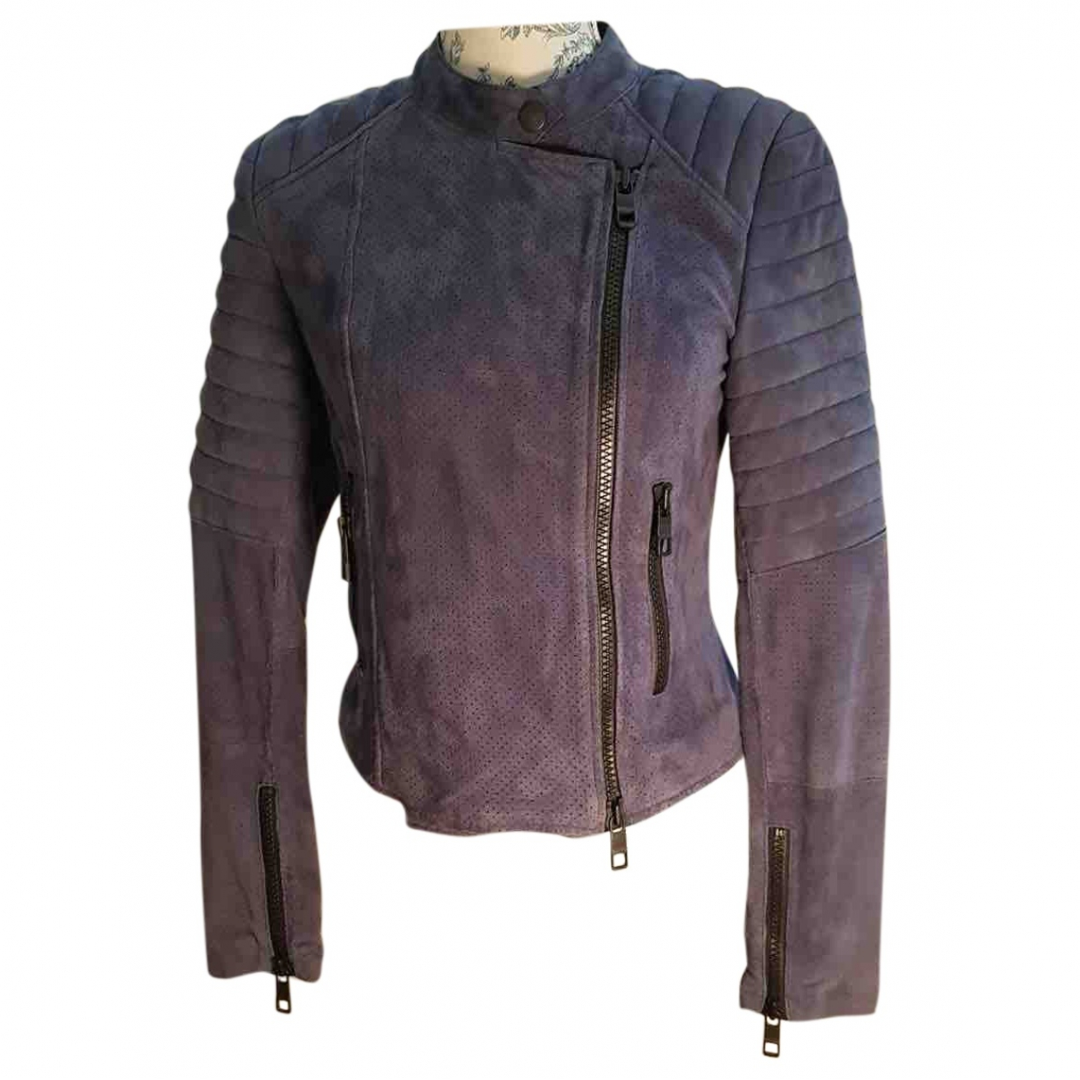 Closed \N Blue Leather jacket for Women S International