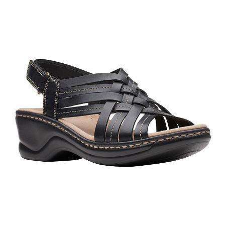 Clarks Womens Lexi Carmen Strap Sandals, 7 Medium, Black