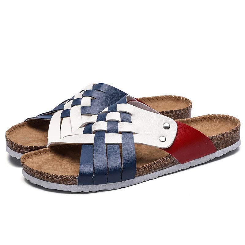Ericdress Woven Summer Color Block Slippers