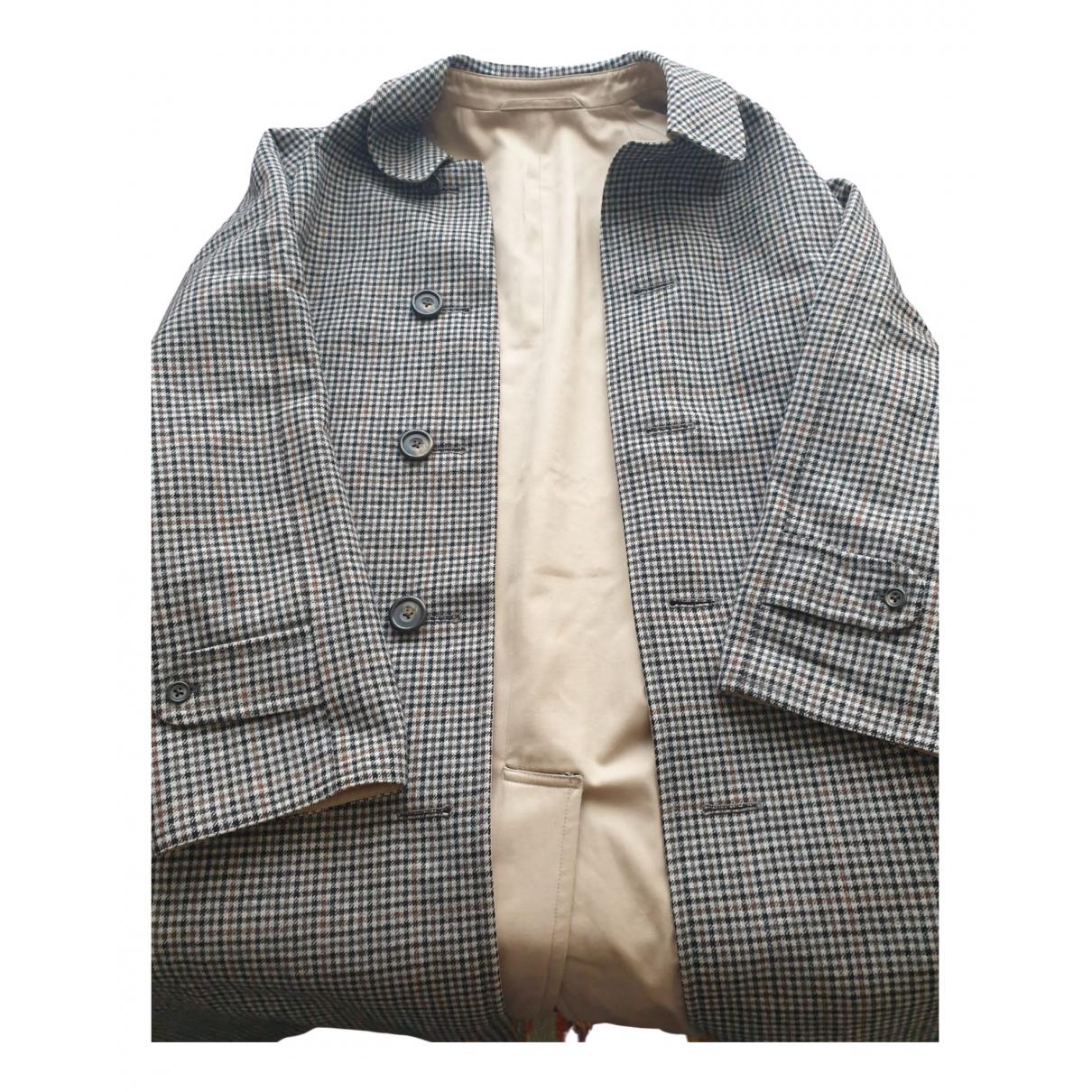 Aquascutum \N Beige Cotton coat  for Men 50 IT