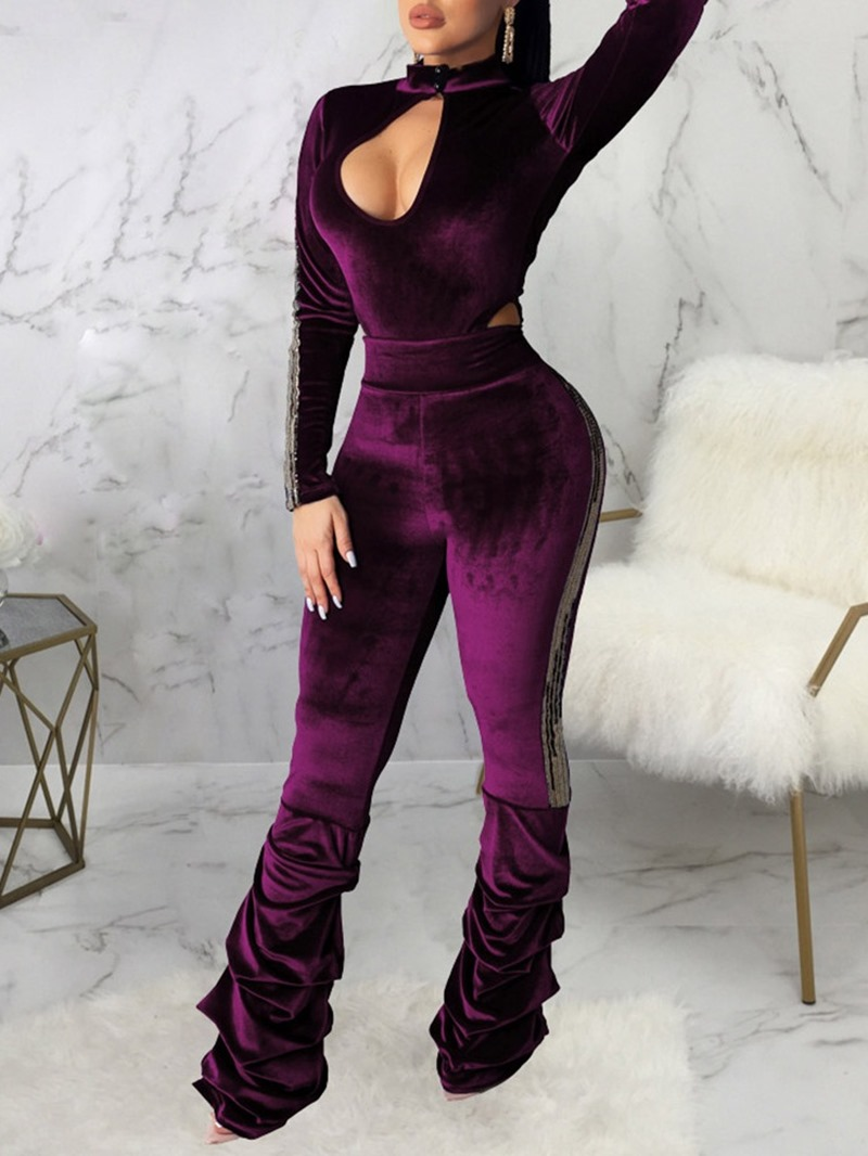 Ericdress Casual Full Length Plain Skinny High Waist Jumpsuit