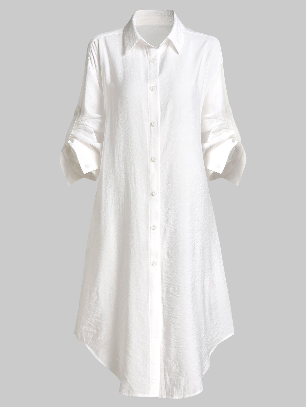 Roll Tab Sleeve Button Up Longling Shirt