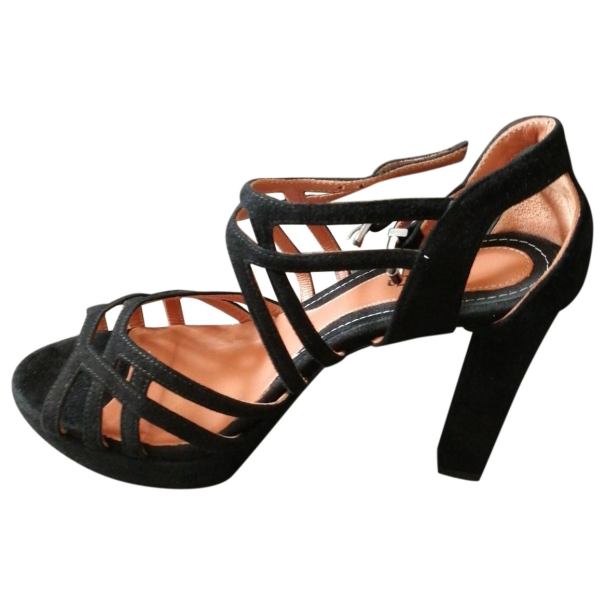 Max & Co \N Black Leather Sandals for Women 38 EU