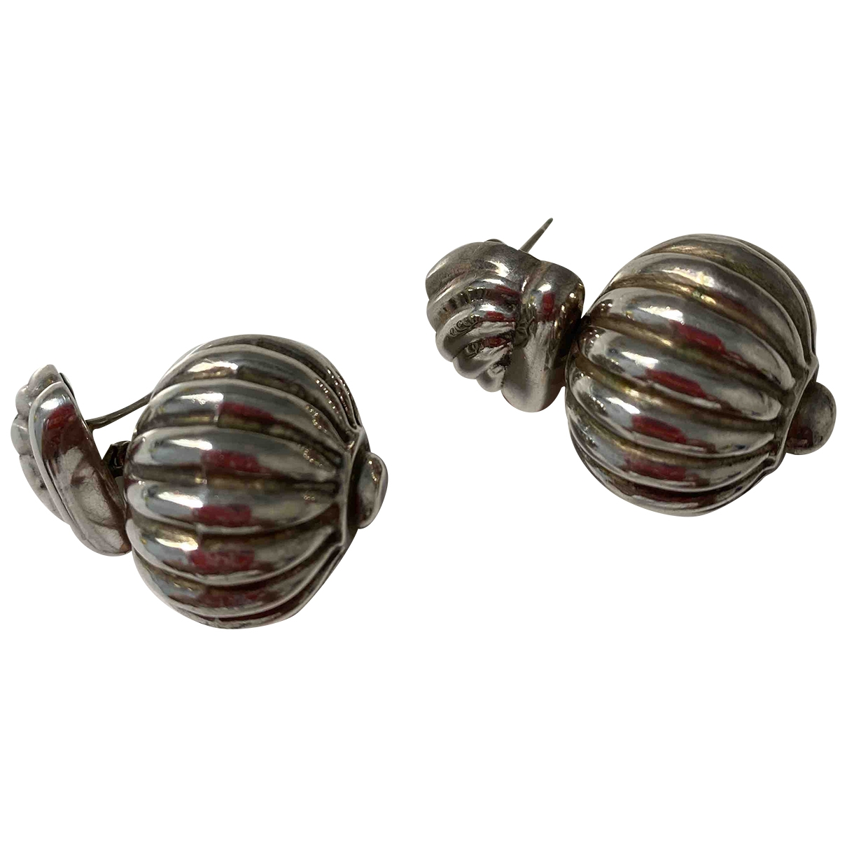 Non Sign?? / Unsigned \N Silver Silver Earrings for Women \N