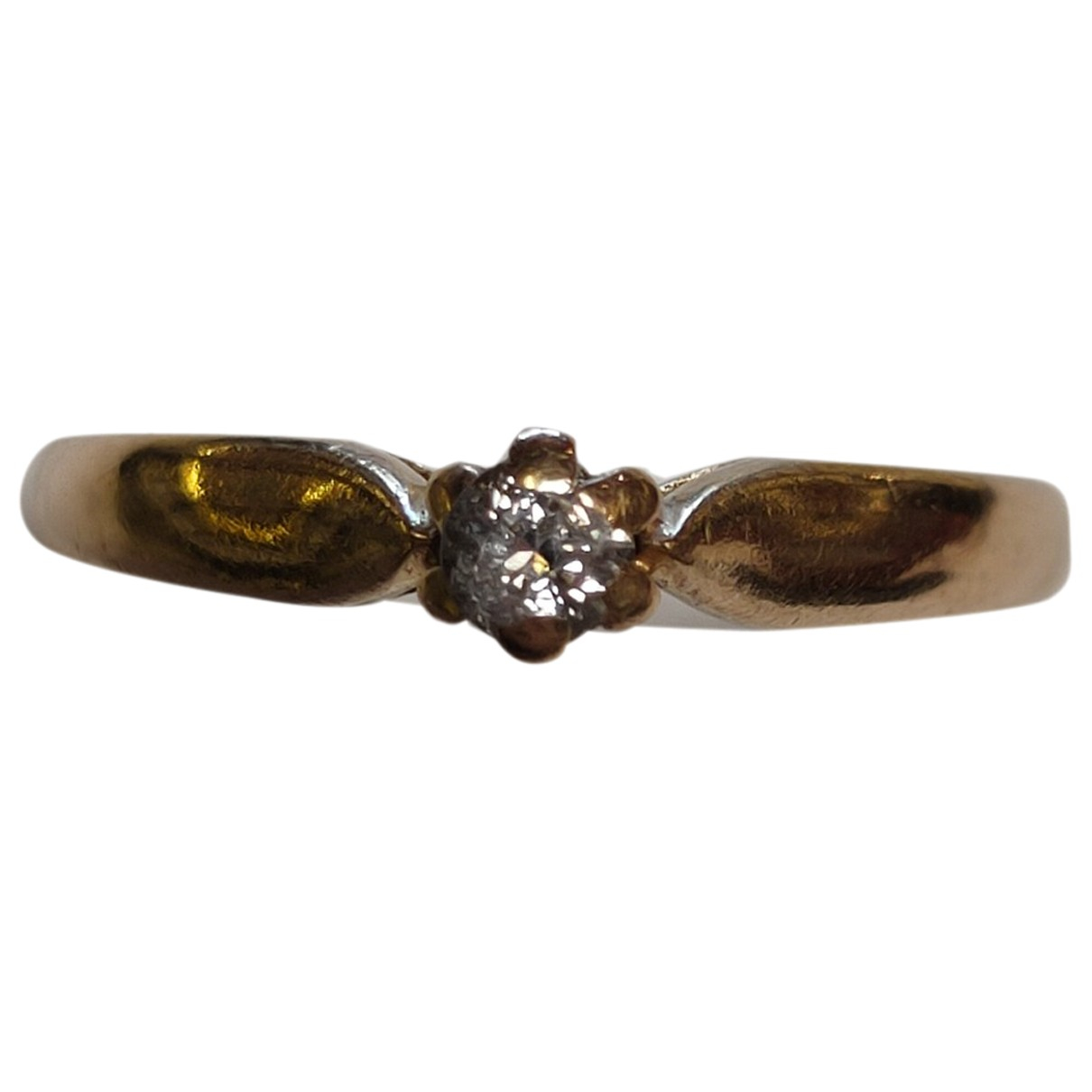 Non Signé / Unsigned Solitaire Gold Yellow gold ring for Women 51 MM