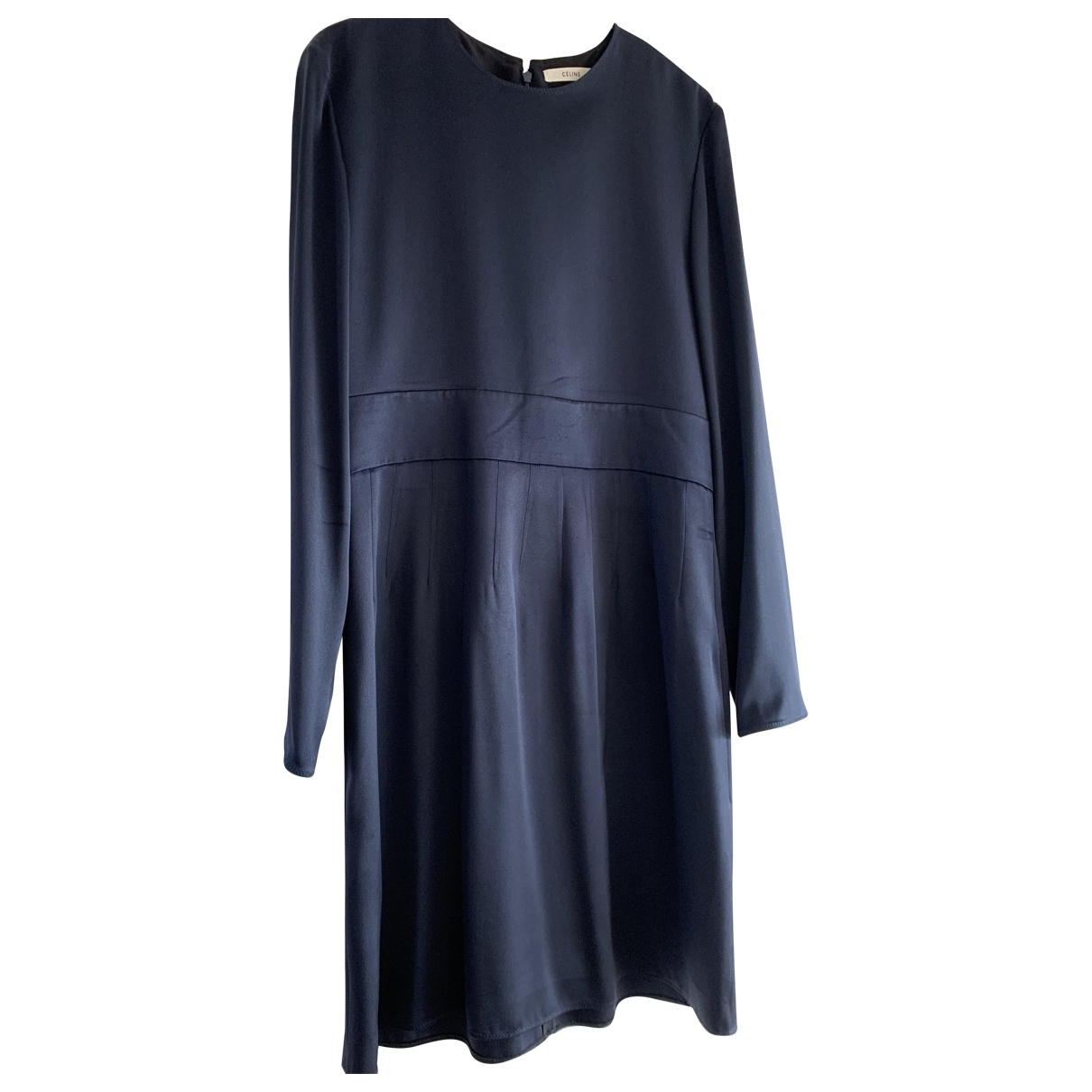 Celine \N Blue Silk dress for Women 40 FR
