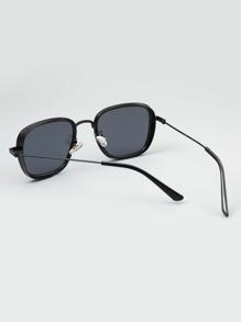 Men Oval Frame Sunglasses