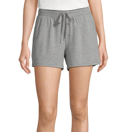 Ambrielle Womens French Terry Pajama Shorts, Large , Gray