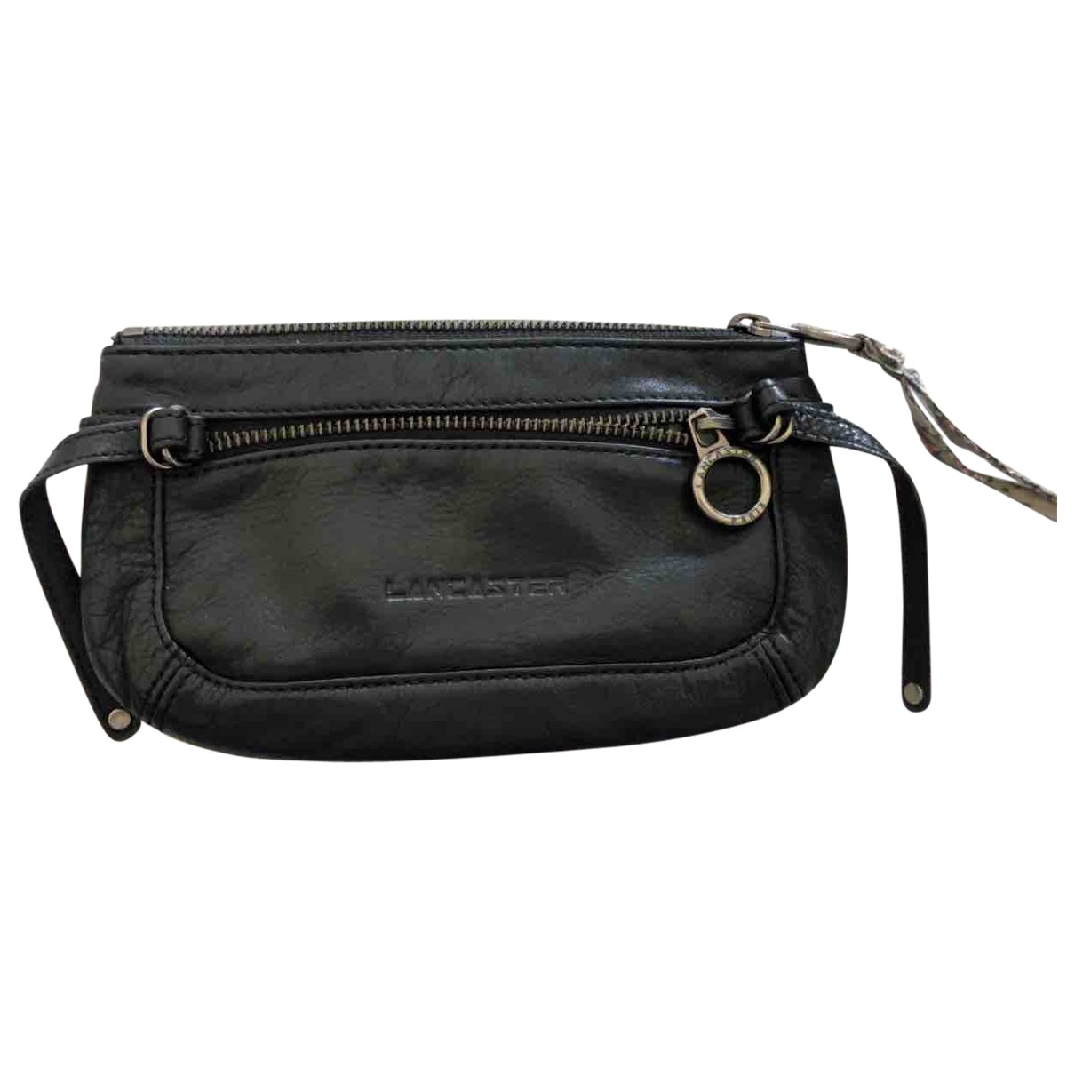 Lancaster \N Black Leather Purses, wallet & cases for Women \N