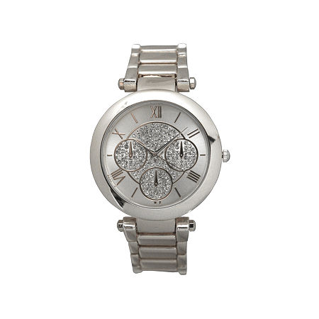 Olivia Pratt Womens Silver Tone Strap Watch-D60011silver, One Size , No Color Family