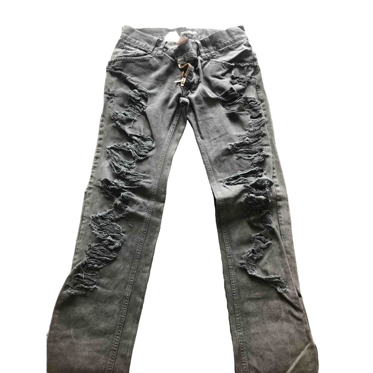 Dolce & Gabbana \N Black Cotton Jeans for Men 31 US