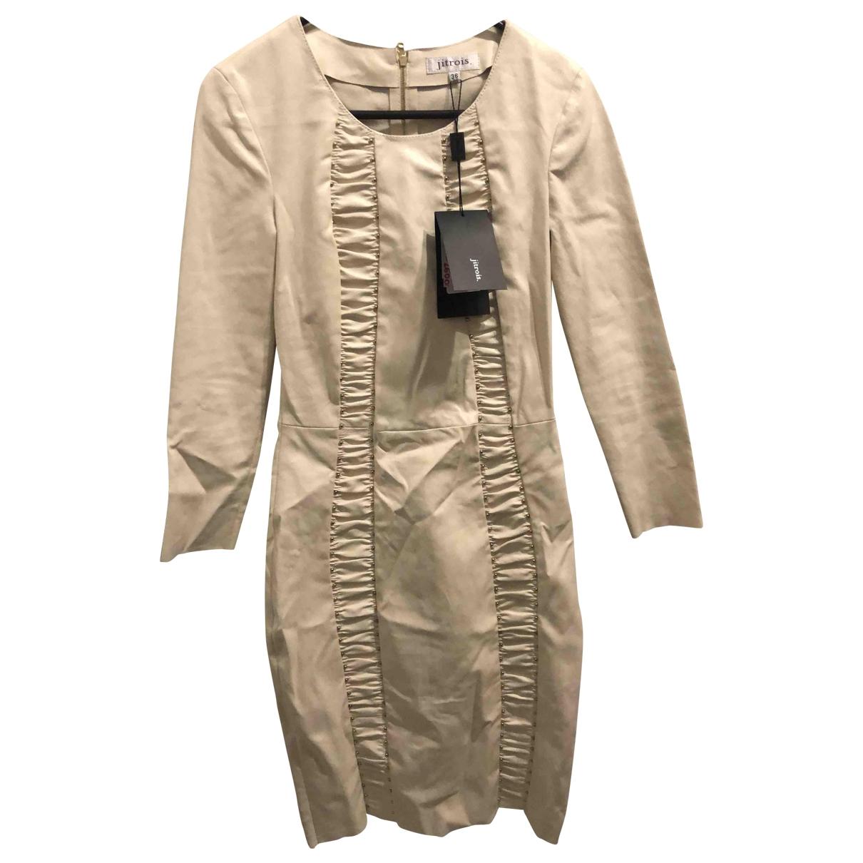 Jitrois \N Ecru Leather dress for Women 36 IT
