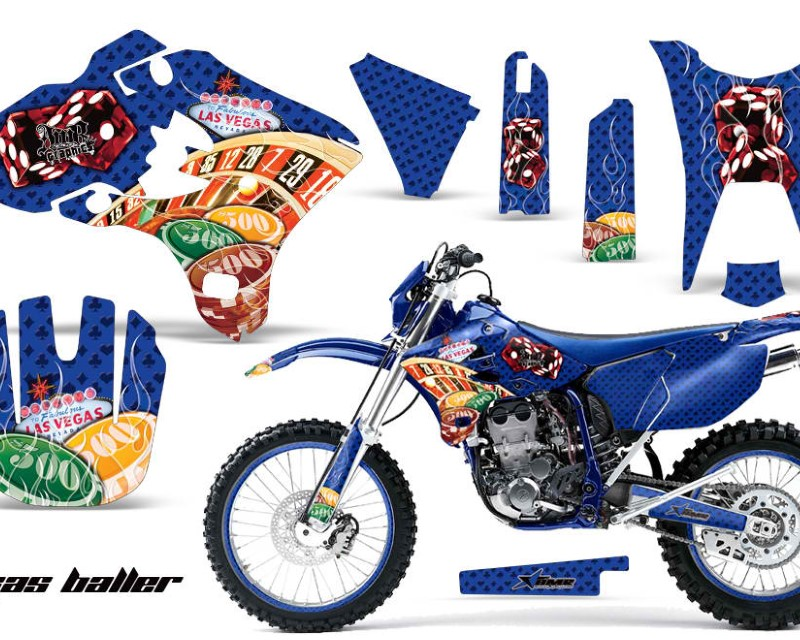 AMR Racing Graphics MX-NP-YAM-WR250F-WR450F-03-04-VB U Kit Decal Sticker Wrap + # Plates For Yamaha WR250F WR450F 2003-2004 VEGAS BLUE