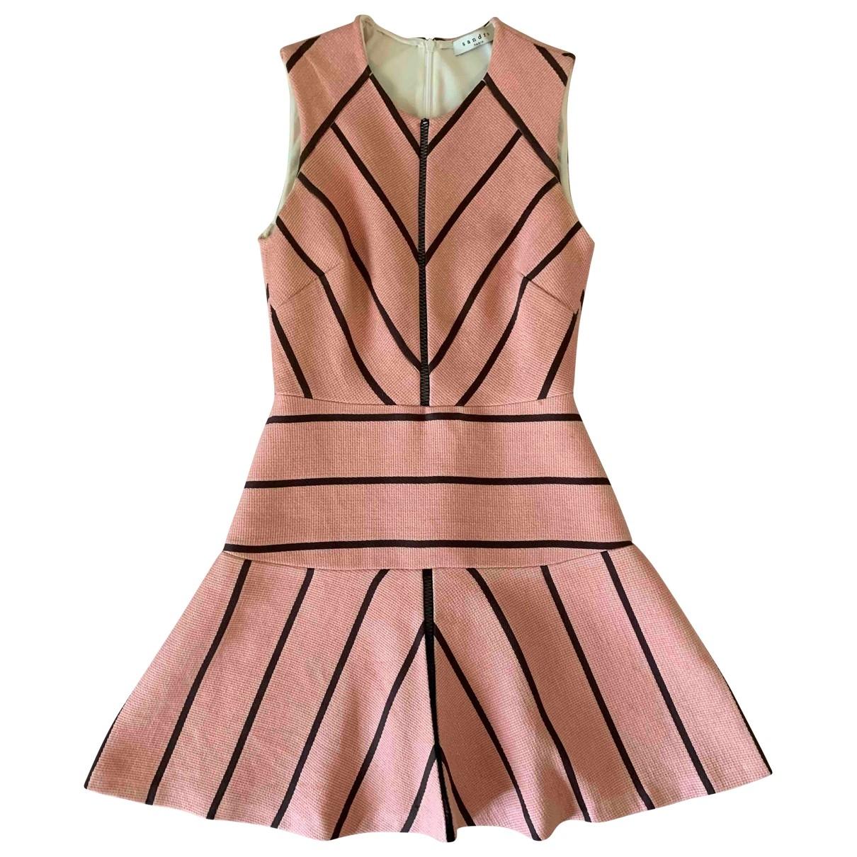 Sandro \N Pink Linen dress for Women 1 0-5